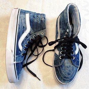 Vans Sk8-Hi Reissue Blue Denim Acid Wash Sneakers